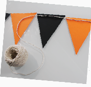 attach string to bunting