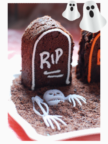Tombstone Brownies tombstone brownies recipe halloween recipes ...