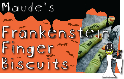 franken finger biscuits