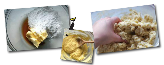 Mix ingredients to form biscuit dough