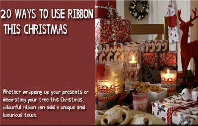 20 ways to use ribbon this Christmas