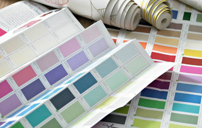 Paint Swatches and Wallpaper