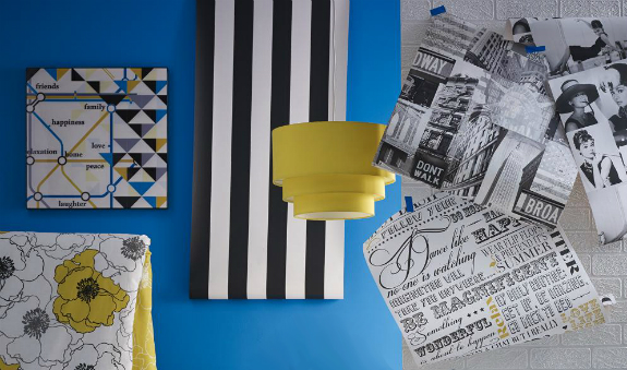 Carnaby wall art & lampshade