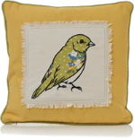 Bird applique cushion