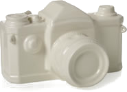 Ceramic camera ornament
