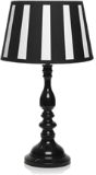 Black and white stripy lamp