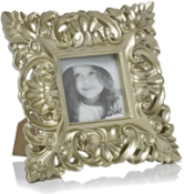 Square baroque style photo frame