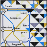 Carnaby tube map wall art