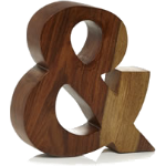 wooden ampersand ornament