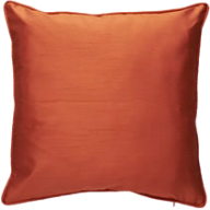 orange faux silk cushion