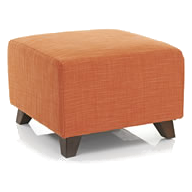 orange footstool