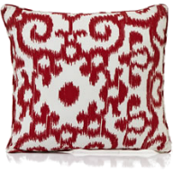 ikat print cushion