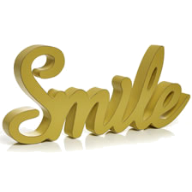 """smile"" word art"
