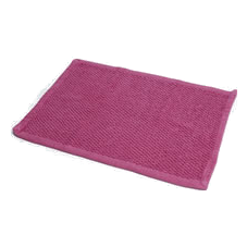 hot pink bath mat