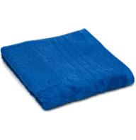 blue bath sheet