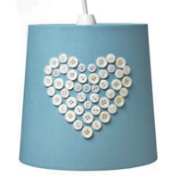 button heart lampshade