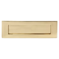 brass letterbox plate
