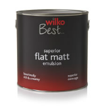 Wilko Flat Matt Emulsion