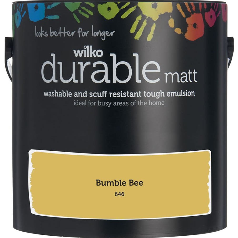 Wilko Durable Matt Emulsion Bumble Bee