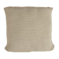beige knitted cushion