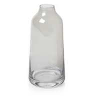 grey glass bottle vase