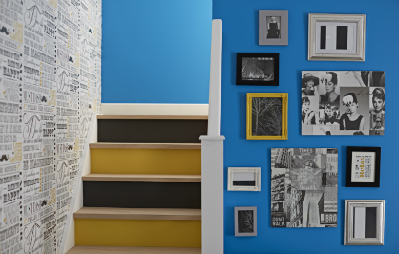 Staircase & picture wall