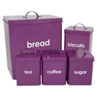 Wilko Colourplay purple storage jars