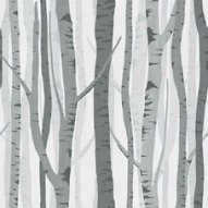 Wilko grey trees wallpaper