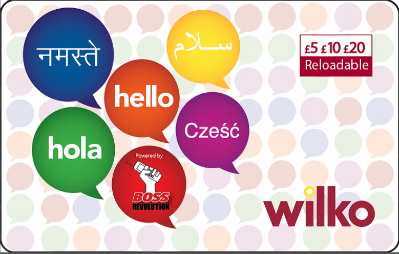 Wilko International Calling Card