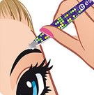 pluck stray hairs with tweezers