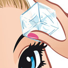 apply an ice pack after plucking eyebrows to tone down soreness