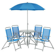 blue patio set