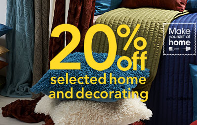 20% off home and decorating at Wilko