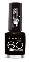Rimmel 60 Seconds nail polish in Black Out