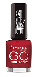Rimmel 60 Second nail polish in Rapid Ruby