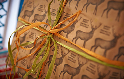 Stag Christmas wrapping paper
