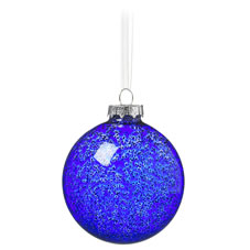 blue speckle bauble