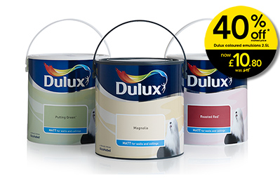 40% off Dulux Coloured Emulsions at Wilko
