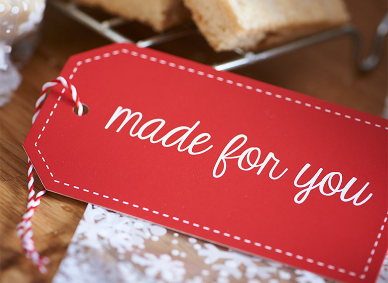 Made for You gift tag