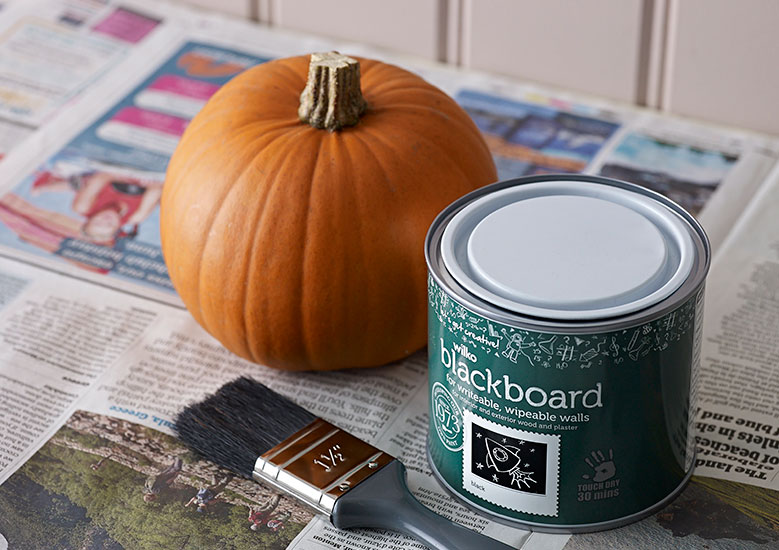 Pumpkin and chalkboard paint