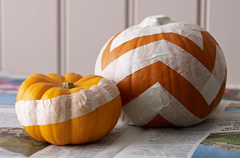 pumpkins with masking tape