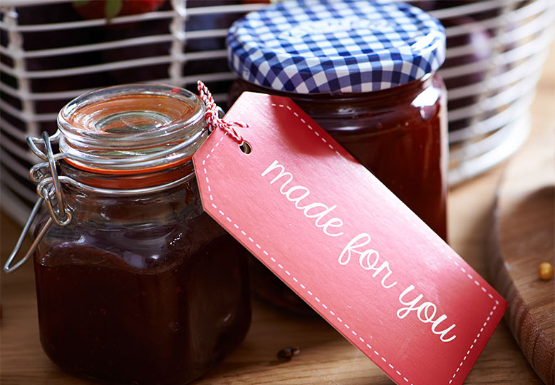 Homemade jam, chutneys and preserves