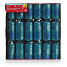 blue snowflake crackers