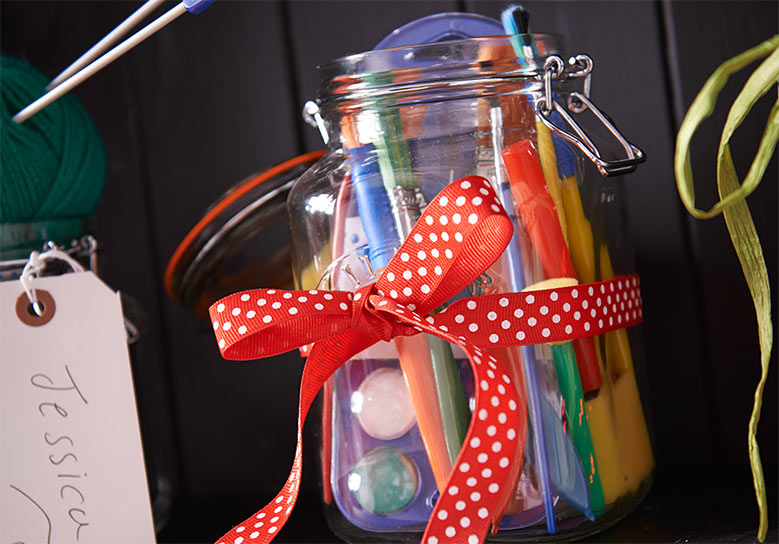 Create a craft jar for an arty friend