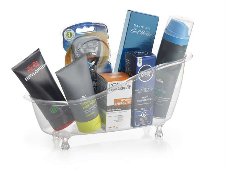 fathers day shaving hamper
