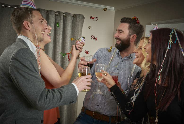 friends celebrating at a party
