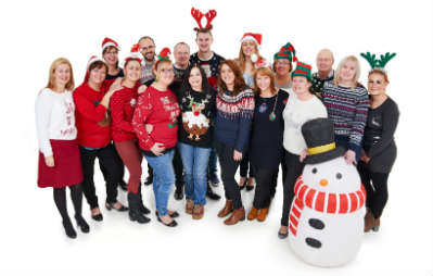 Christmas jumper day at WIlko