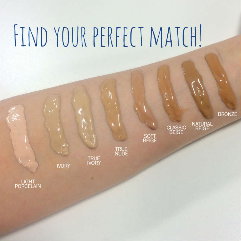 rimmel foundation colour swatches