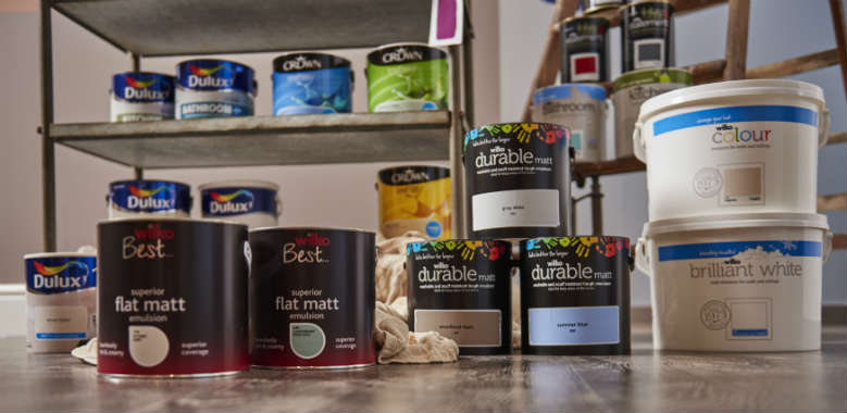 group shot of paint range