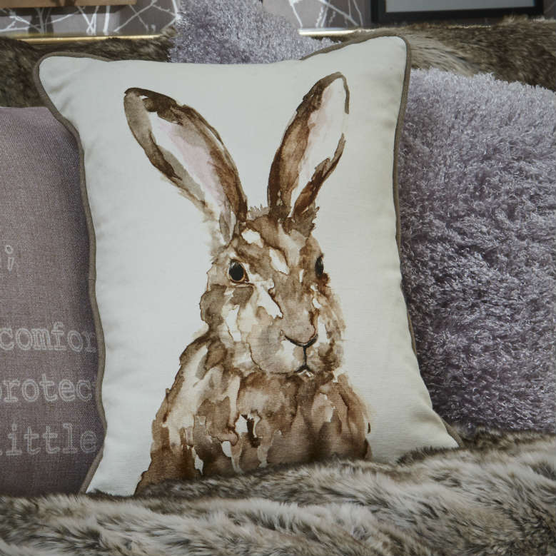 sanctuary hare cushion
